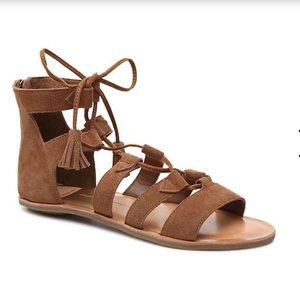Dolce Vita Valli Suede Gladiator Lace Up Sandals 8